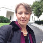 Editor Lynn Rebuck outside the White House on Saturday, October 3, 2015.